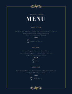 Free Menu Maker   Menu Creator   Visme with regard to Frequent Diner Card Template