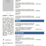 Free Microsoft Word Resume Template | Projects To Try pertaining to Microsoft Word Resumes Templates