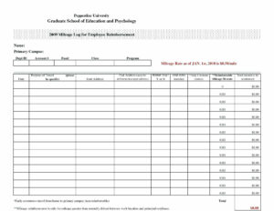 Free Mileage Log Spreadsheet Vehicle Template For Word inside Mileage Report Template