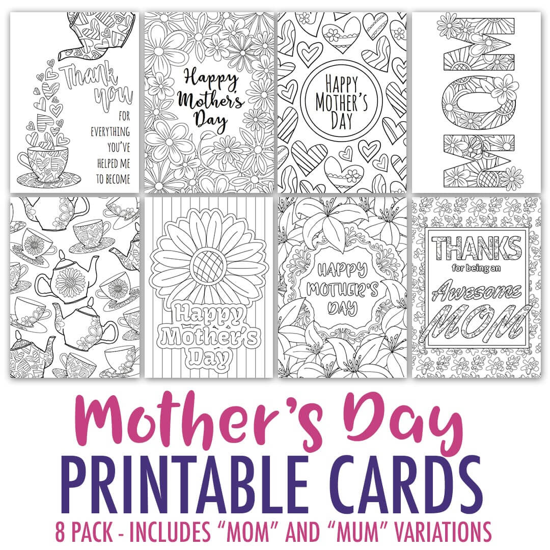Free Mother's Day Card | Printable Template – Sarah Renae In Mothers Day Card Templates