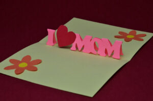 Free Mother's Day Pop Up Card Template And Tutorial | Places inside I Love You Pop Up Card Template