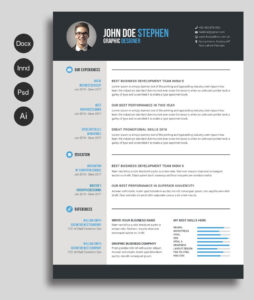Free Ms.word Resume And Cv Template | Collateral Design With Microsoft Word Resumes Templates