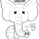 Free Muppet Puppet Patterns To Print | Elephant Puppet From regarding Blank Elephant Template