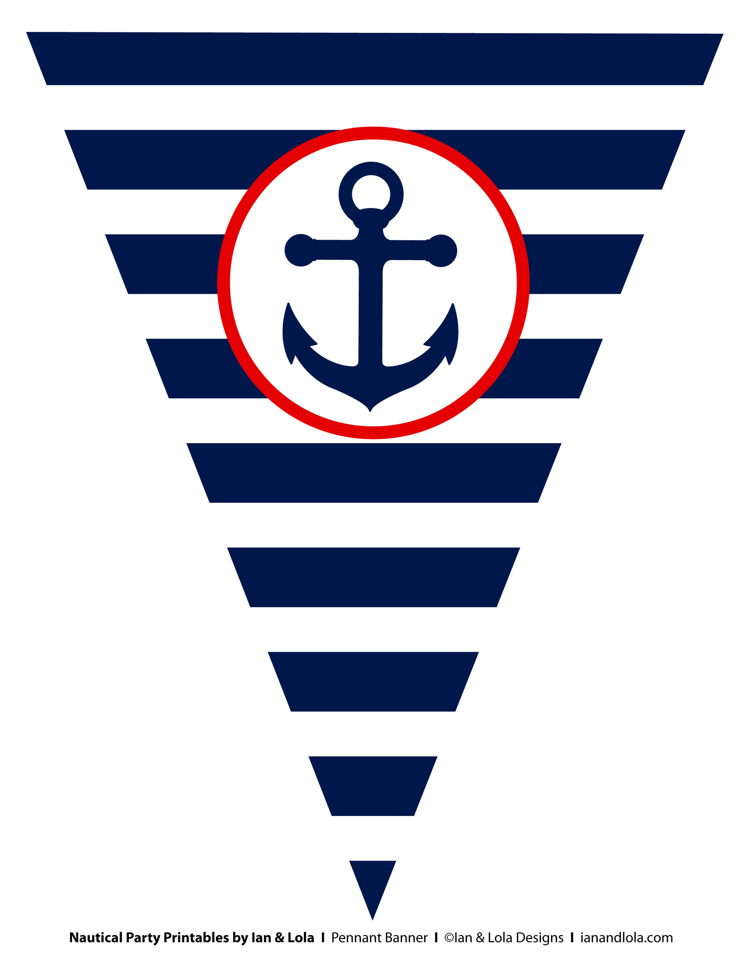 Free Nautical Party Printables From Ian & Lola Designs In Nautical Banner Template