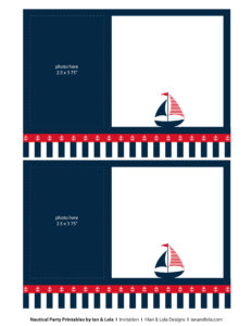 Free Nautical Party Printables From Ian & Lola Designs intended for Nautical Banner Template