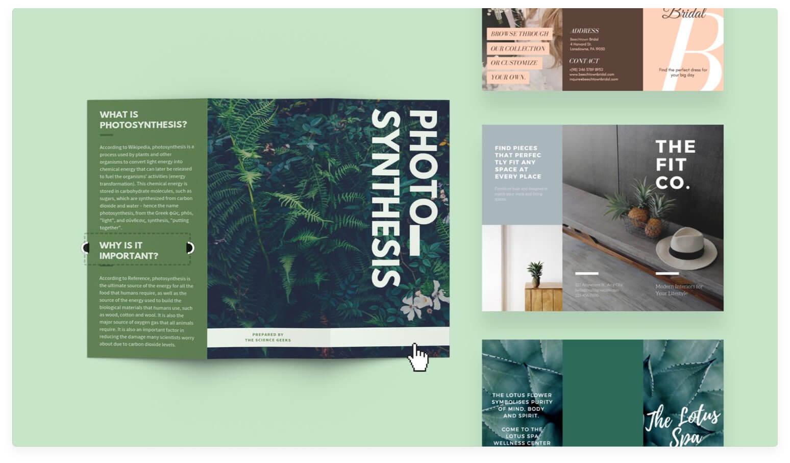 Free Online Brochure Maker: Design A Custom Brochure In Canva For E Brochure Design Templates