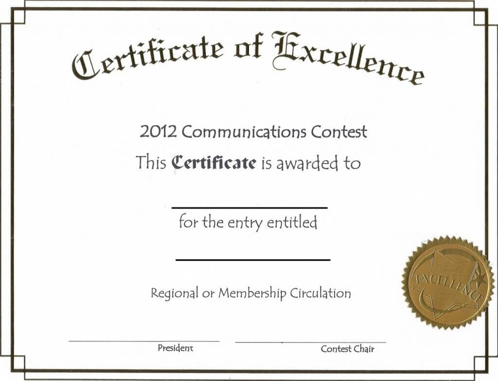 Free Online Certificate Template | Certificate Templates With Generic Certificate Template