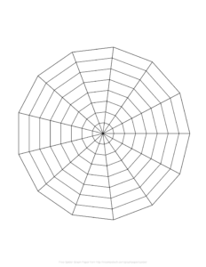 Free Online Graph Paper / Spider with Blank Radar Chart Template