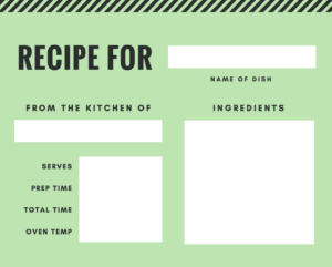 Free Online Recipe Card Maker: Design A Custom Recipe Card With Fillable Recipe Card Template