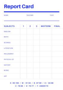 Free Online Report Card Maker: Design A Custom Report Card in Middle School Report Card Template