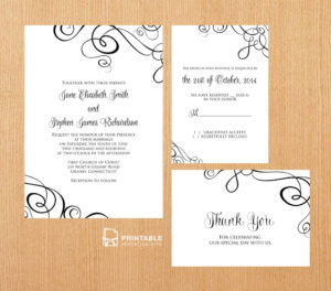Free Pdf Templates. Easy To Edit And Print At Home. Elegant with regard to Free Printable Wedding Rsvp Card Templates