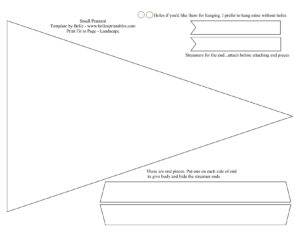 Free Pennant Banner Template, Download Free Clip Art, Free in Free Triangle Banner Template