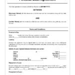 Free Personal Loan Agreement Form Template – $1000 Approved Throughout Blank Loan Agreement Template
