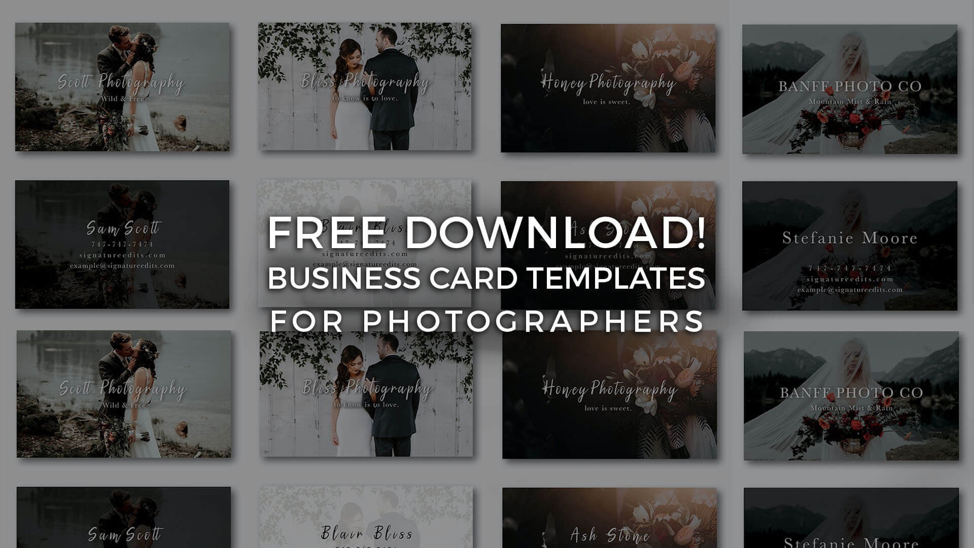 Free Photographer Business Card Templates! - Signature Edits Throughout Photography Business Card Templates Free Download