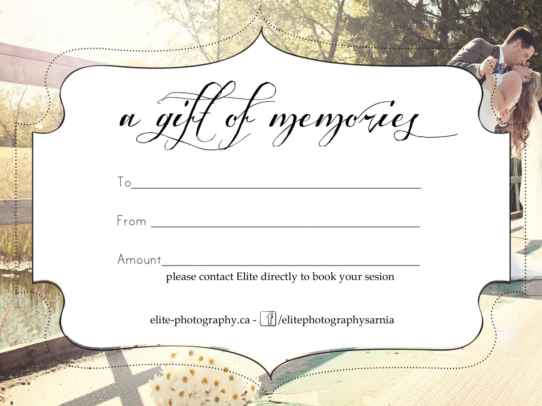 Free Photography Gift Certificate pertaining to Free Photography Gift Certificate Template