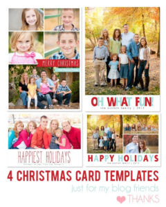 Free Photoshop Holiday Card Templates From Mom And Camera intended for Free Christmas Card Templates For Photographers