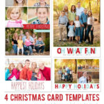 Free Photoshop Holiday Card Templates From Mom And Camera pertaining to Free Photoshop Christmas Card Templates For Photographers