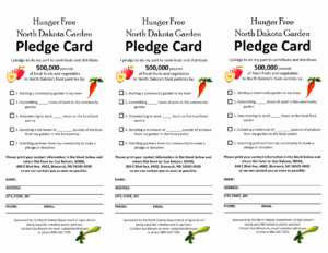 Free Pledge Card Template | Cardnletter.co inside Donation Card Template Free