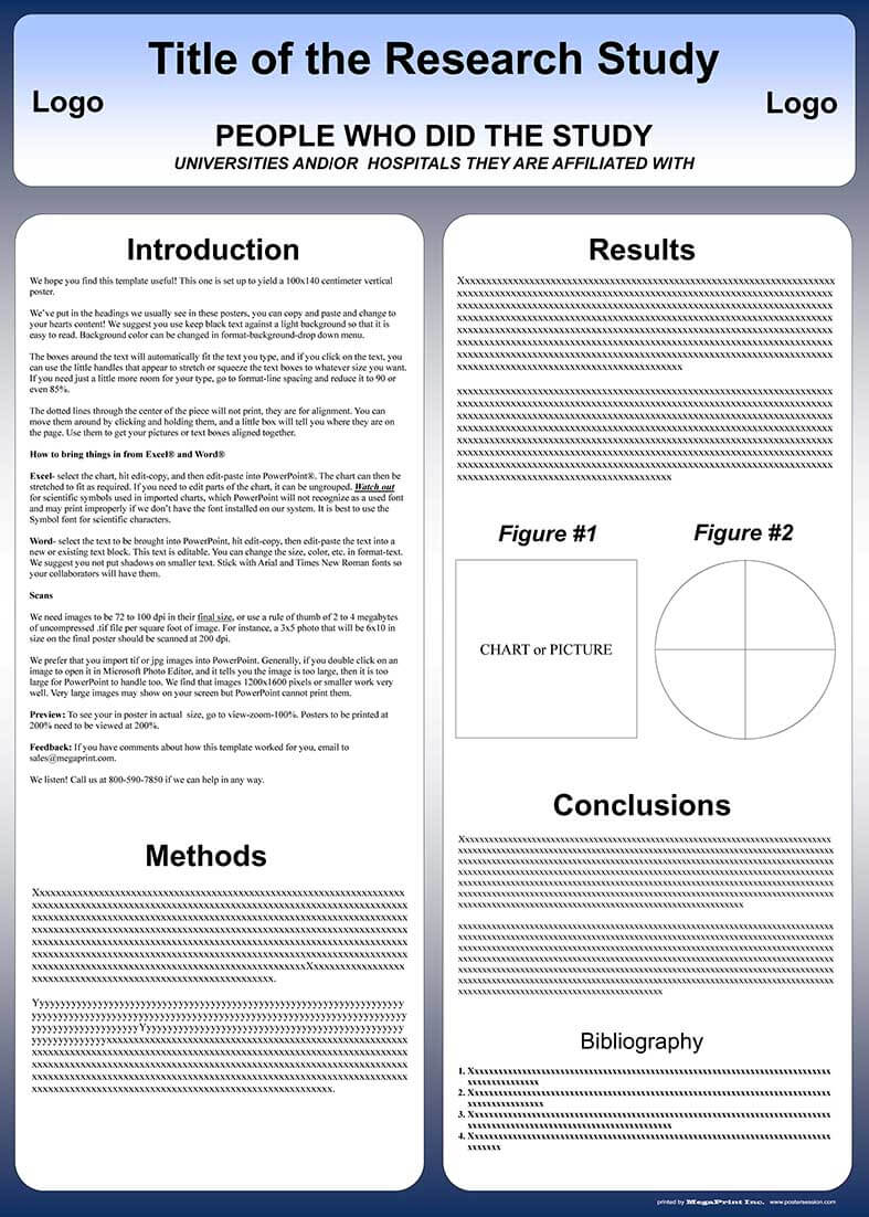 Free Powerpoint Scientific Research Poster Templates For With Powerpoint Poster Template A0