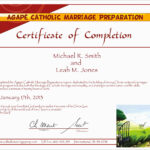 Free Premarital Counseling Certificate Of Completion Throughout Premarital Counseling Certificate Of Completion Template