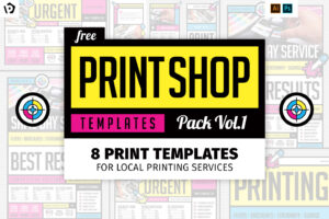 Free Print Shop Templates For Local Printing Services for Template For Cards To Print Free