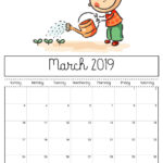 Free Printable 2019 Calendar – Print Yours Here | Kiddycharts In Blank Calendar Template For Kids