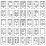 Free Printable Alphabet Letters | Banner Flag Letter Pdf Intended For Free Letter Templates For Banners