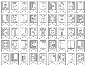 Free Printable Alphabet Letters | Banner Flag Letter Pdf with Letter Templates For Banners