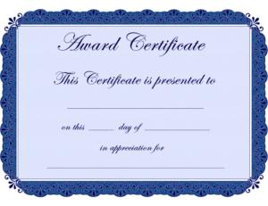 Free Printable Award Certificate Borders |  Award in Free Printable Certificate Of Achievement Template