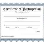 Free Printable Award Certificate Template - Bing Images for Free Templates For Certificates Of Participation