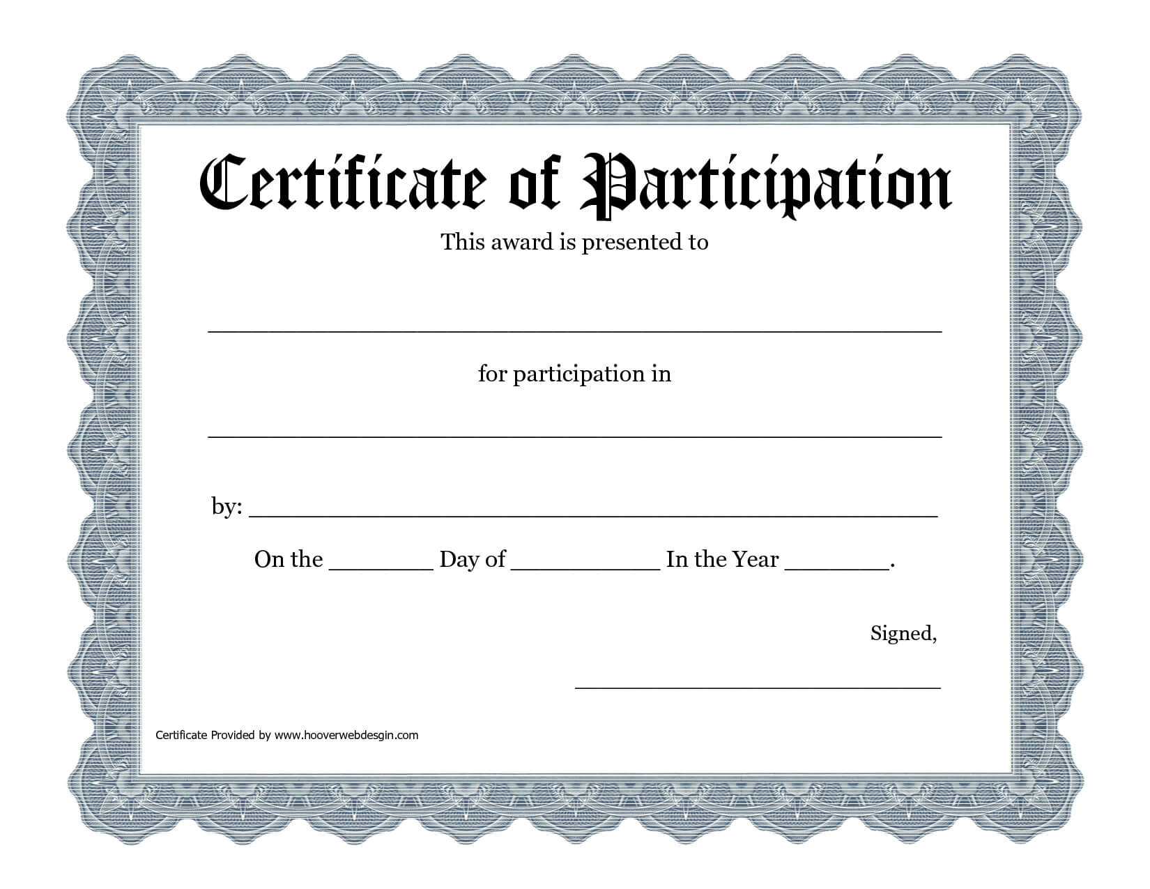 Free Printable Award Certificate Template - Bing Images Pertaining To Templates For Certificates Of Participation