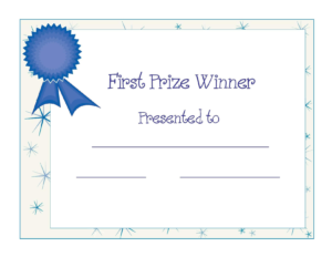 Free Printable Award Certificate Template | Free Printable with regard to First Place Award Certificate Template