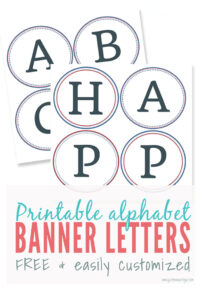 Free Printable Banner Letters | Make Easy Diy Banners And Signs with regard to Letter Templates For Banners