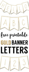Free Printable Banner Letters Templates | The Wedding Stuff intended for Letter Templates For Banners