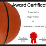 Free Printable Basketball Certificates | Customize Online Intended For Basketball Certificate Template