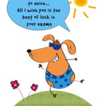 Free Printable Best Of Luck In Your Exams Greeting Card With Regard To Good Luck Card Templates