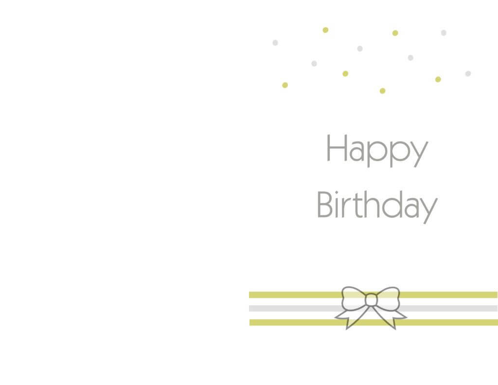 Free Printable Birthday Cards Ideas – Greeting Card Template Throughout Free Printable Blank Greeting Card Templates