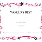 Free Printable Blank Award Certificate Templates Chainimage For Free Printable Blank Award Certificate Templates