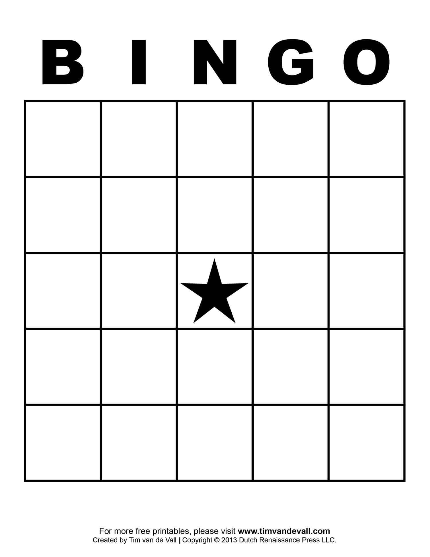 Free Printable Blank Bingo Cards Template 4 X 4 | Classroom Inside Bingo Card Template Word