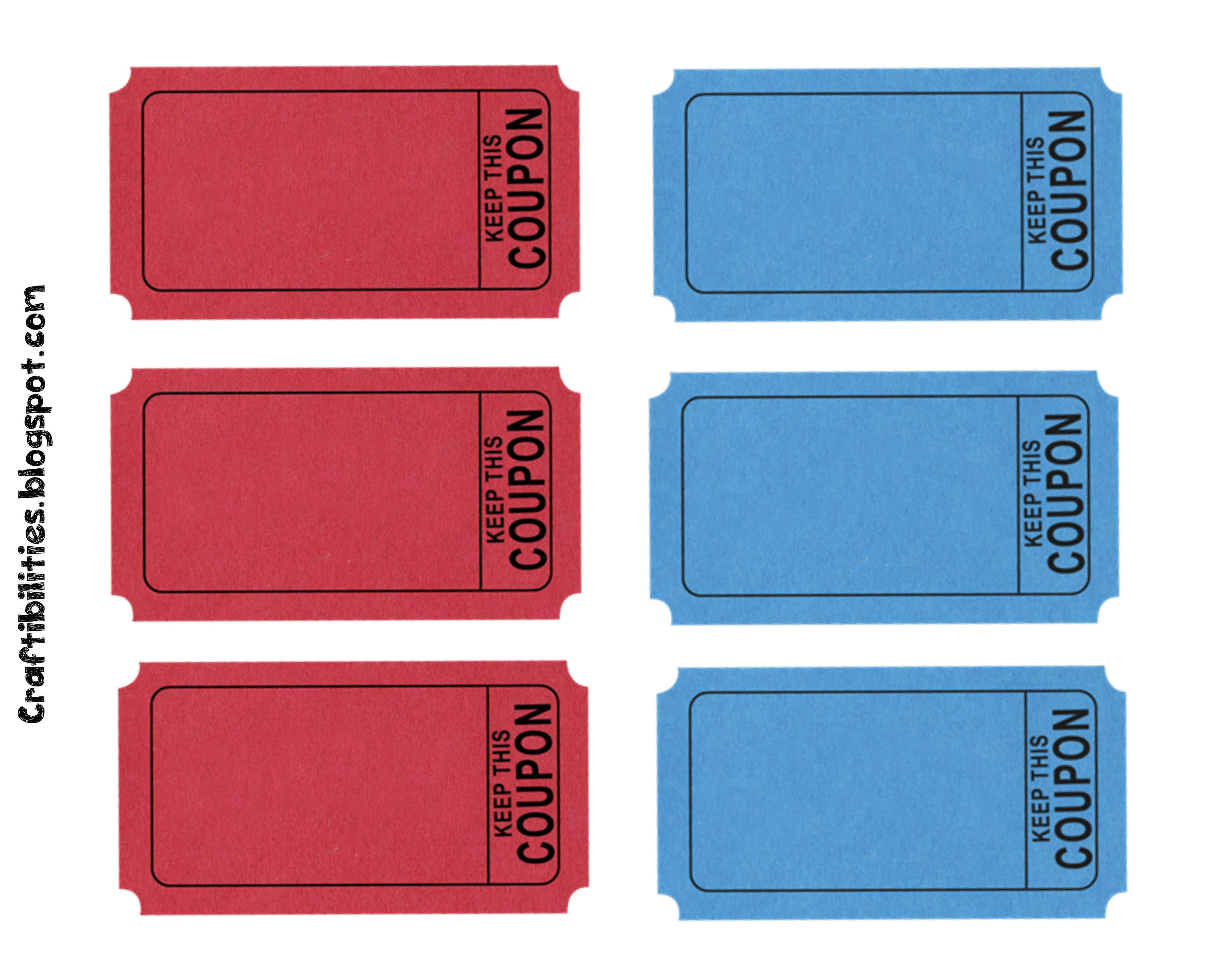 Free Printable Blank Birthday Coupons Template With Red And Inside Blank Coupon Template Printable