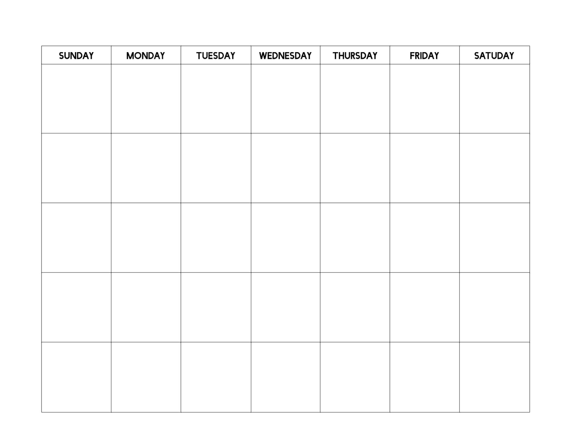 Free Printable Blank Calendar Template - Paper Trail Design Inside Blank Calender Template