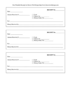 Free-Printable-Blank-Receipt-Form-Template-Page-001 regarding Blank Money Order Template