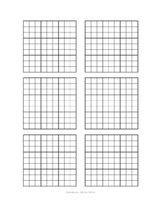 Free Printable Blank Sudoku Grids | Misc Stuff | Grid Paper with regard to Blank Perler Bead Template