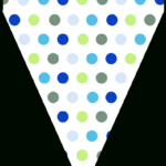 Free Printable Blue & Green Triangle Banner Template Within Triangle Banner Template Free