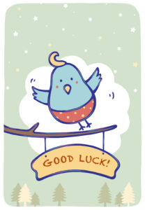 Free Printable Bluebird Of Happiness Greeting Card In Good Luck Card Templates