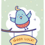 Free Printable Bluebird Of Happiness Greeting Card Inside Good Luck Card Template