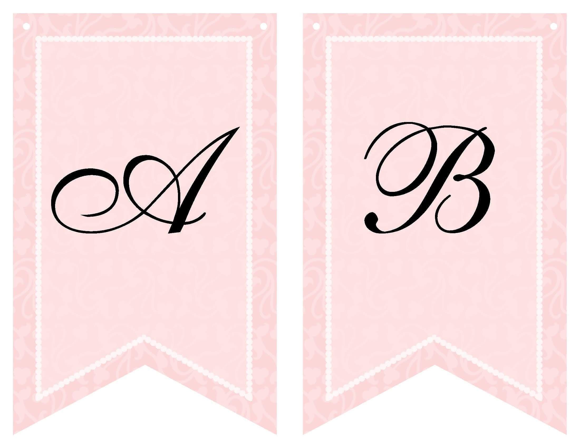 Free Printable Bridal Shower Banner | Vow Renewal | Bridal Within Free Bridal Shower Banner Template