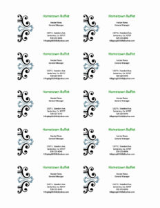Free Printable Business Card Templates For Word Or New Free regarding Free Business Cards Templates For Word
