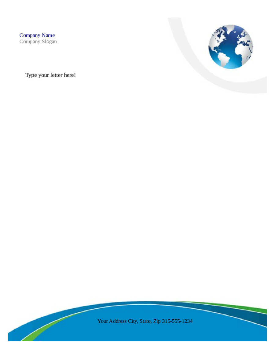 Free Printable Business Letterhead Templates Microsoft Word Intended For Word Stationery Template Free