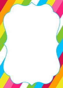 Free Printable Candyland Invitation Blank Template with regard to Blank Templates For Invitations